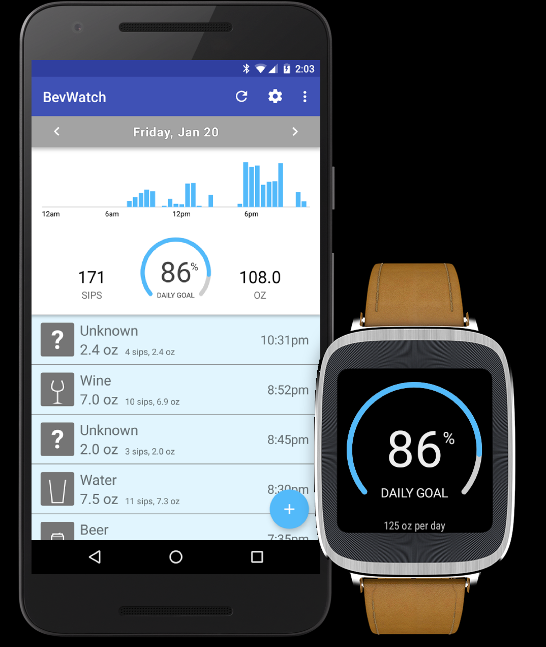 BevWatch for Android Wear