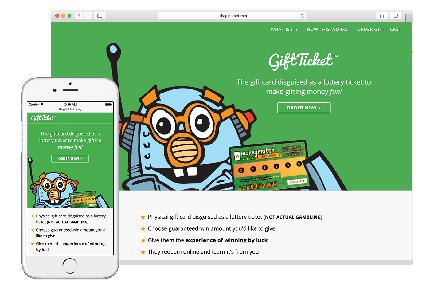 The Gift Ticket: A fun way to gift money!